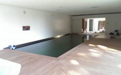 RVS binnen zwembad moderne villa, Enschede